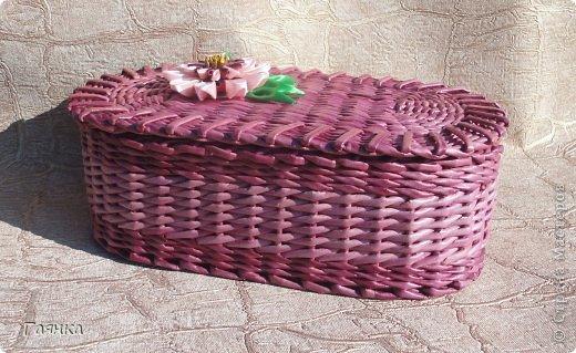 Привет всем! Эту корзину сплела сестре в подарок на Новый Год. Размер корзины: длина 64, ширина 41, высота 50. фото 11
