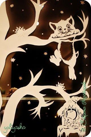 Картина панно рисунок Новый год Вырезание Новогодние окна   Бумага фото 6