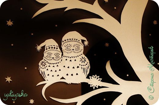 Картина панно рисунок Новый год Вырезание Новогодние окна   Бумага фото 4