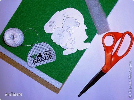 Мастер-класс Поделка изделие Новый год Шитьё Ёлочная игрушка из фетра Дед Мороз Бисер Нитки Фетр фото 2