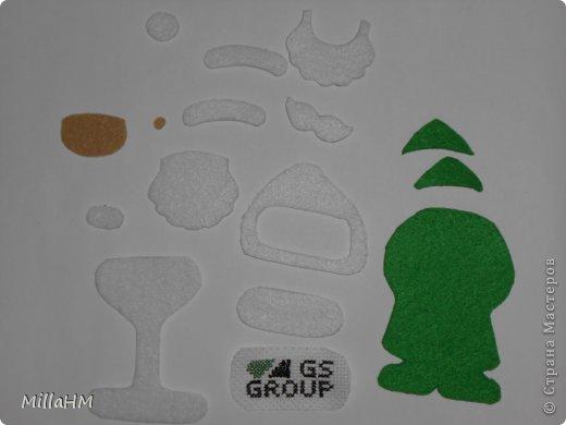 Мастер-класс Поделка изделие Новый год Шитьё Ёлочная игрушка из фетра Дед Мороз Бисер Нитки Фетр фото 3