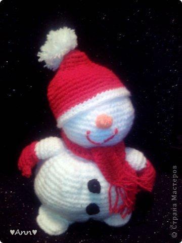 Вязание крючком Снеговичок