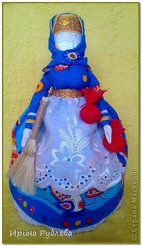 Куклы Мастер-класс Оберег Рождество Моделирование конструирование Шитьё Обережное рукоделие Кукла Коляда Тесьма шнур Ткань фото 1