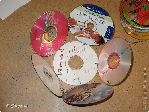 Мастер-класс Поделка изделие Новый год Моделирование конструирование Шары и светильник из CD-дисков МК Диски компьютерные фото 7