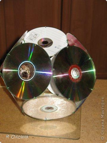 Мастер-класс Поделка изделие Новый год Моделирование конструирование Шары и светильник из CD-дисков МК Диски компьютерные фото 8