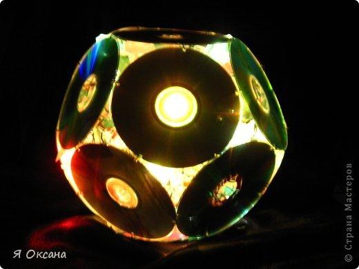 Мастер-класс Поделка изделие Новый год Моделирование конструирование Шары и светильник из CD-дисков МК Диски компьютерные фото 10