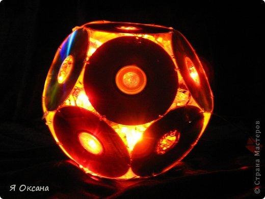 Мастер-класс Поделка изделие Новый год Моделирование конструирование Шары и светильник из CD-дисков МК Диски компьютерные фото 11