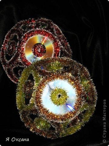 Мастер-класс Поделка изделие Новый год Моделирование конструирование Шары и светильник из CD-дисков МК Диски компьютерные фото 1