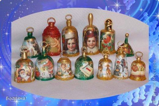 Декор предметов Мастер-класс Новый год Декупаж Делаем колокольчики Мастер-класс Материал бросовый фото 1