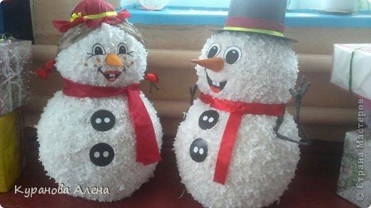 Объёмный снеговик своими руками на новый год