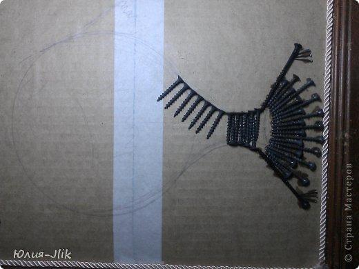 Мастер-класс День рождения Коллаж Моделирование конструирование рыбка из гвоздиков Бумага Бусинки Клей Листья Ракушки фото 3