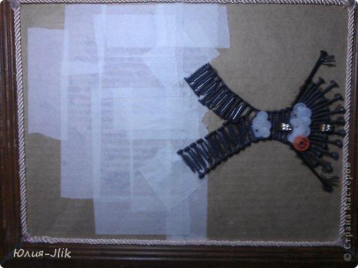Мастер-класс День рождения Коллаж Моделирование конструирование рыбка из гвоздиков Бумага Бусинки Клей Листья Ракушки фото 5