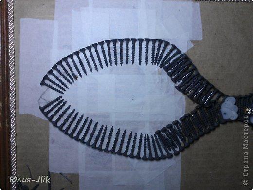 Мастер-класс День рождения Коллаж Моделирование конструирование рыбка из гвоздиков Бумага Бусинки Клей Листья Ракушки фото 6