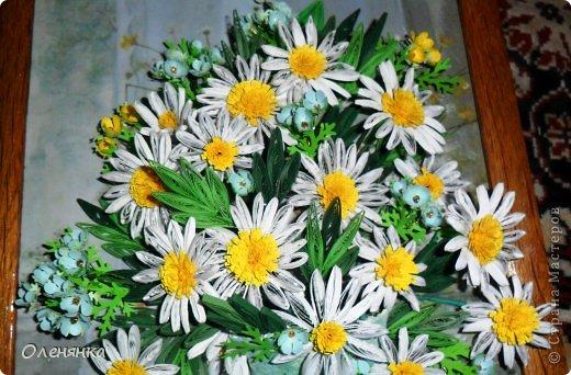 добрый день жители страны!  наконец я доделала картину .цветочки и листики  уже давно были сделаны , а сложила только сейчас. фото 3
