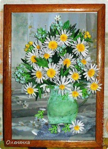 добрый день жители страны!  наконец я доделала картину .цветочки и листики  уже давно были сделаны , а сложила только сейчас. фото 2