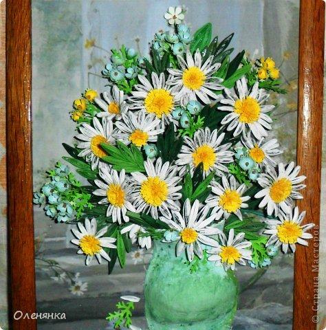 добрый день жители страны!  наконец я доделала картину .цветочки и листики  уже давно были сделаны , а сложила только сейчас. фото 1