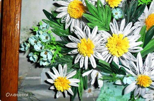 добрый день жители страны!  наконец я доделала картину .цветочки и листики  уже давно были сделаны , а сложила только сейчас. фото 4