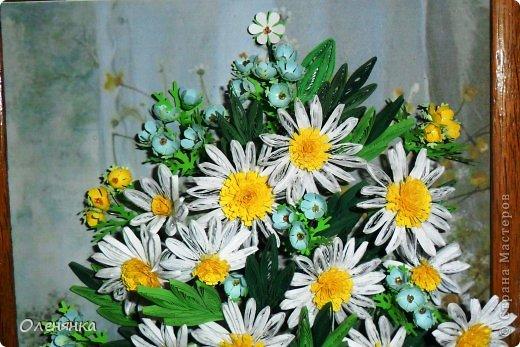 добрый день жители страны!  наконец я доделала картину .цветочки и листики  уже давно были сделаны , а сложила только сейчас. фото 7