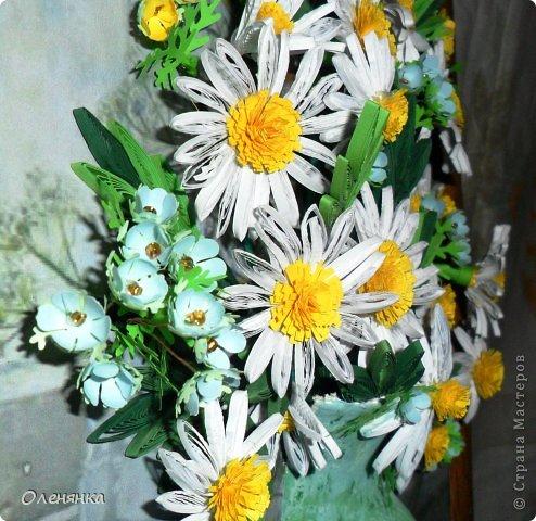 добрый день жители страны!  наконец я доделала картину .цветочки и листики  уже давно были сделаны , а сложила только сейчас. фото 5