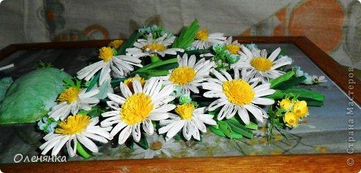 добрый день жители страны!  наконец я доделала картину .цветочки и листики  уже давно были сделаны , а сложила только сейчас. фото 6