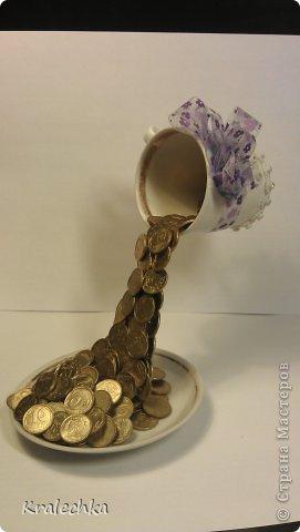 Парящие чашки своими руками с монетами
