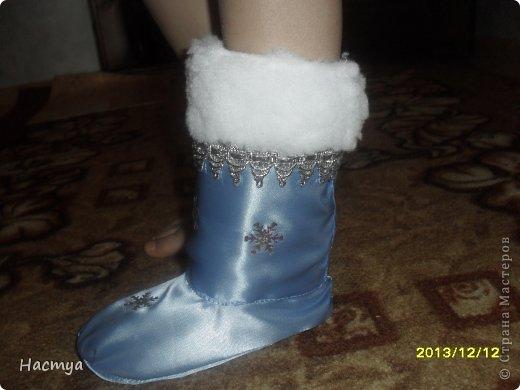 Шубка и кокошник.Костюм Снегурочки для девочки 6 лет. фото 20
