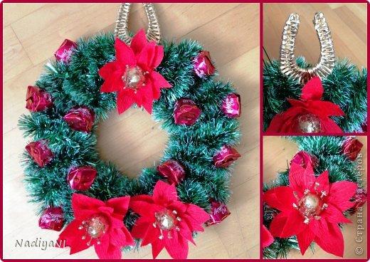Мастер-класс Свит-дизайн Новый год Плетение Мой метод создания Пуансетии- Рождественской звезды мини МК + рождественский венок Бумага гофрированная Трубочки бумажные фото 1