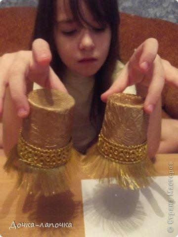 Мастер-класс Новый год мк Как я делала новогодние колокольчики в школу Материал бросовый Стаканы фото 14