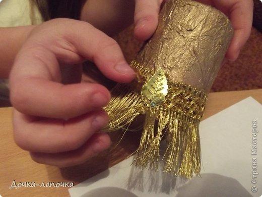 Мастер-класс Новый год мк Как я делала новогодние колокольчики в школу Материал бросовый Стаканы фото 17