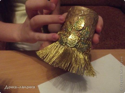 Мастер-класс Новый год мк Как я делала новогодние колокольчики в школу Материал бросовый Стаканы фото 18