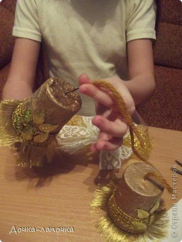 Мастер-класс Новый год мк Как я делала новогодние колокольчики в школу Материал бросовый Стаканы фото 27