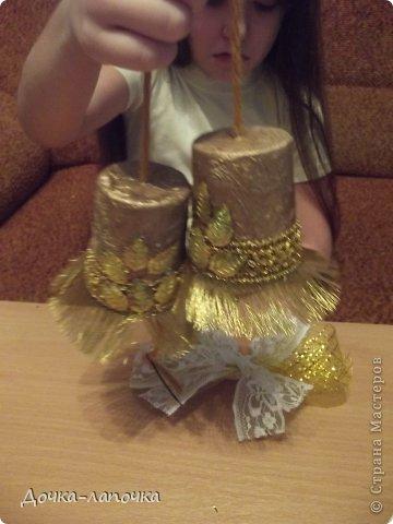 Мастер-класс Новый год мк Как я делала новогодние колокольчики в школу Материал бросовый Стаканы фото 28