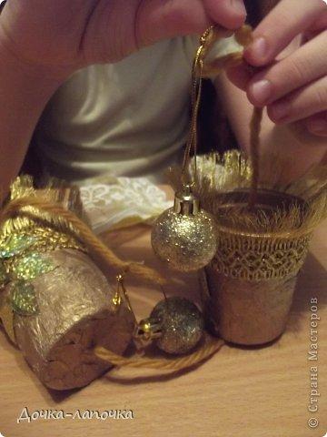 Мастер-класс Новый год мк Как я делала новогодние колокольчики в школу Материал бросовый Стаканы фото 32