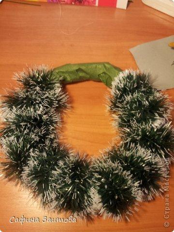 Мастер-класс Поделка изделие Новый год Новогодний венок за 30мин Бумага фото 6