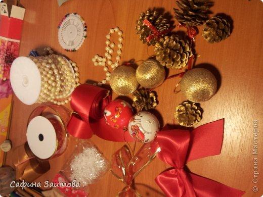 Мастер-класс Поделка изделие Новый год Новогодний венок за 30мин Бумага фото 7