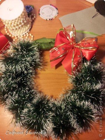 Мастер-класс Поделка изделие Новый год Новогодний венок за 30мин Бумага фото 8