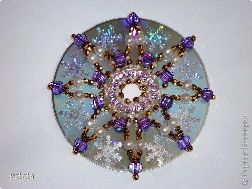 Новый год Бисероплетение Зимний калейдоскоп Бусинки Диски компьютерные фото 1