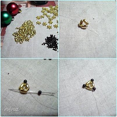Декор предметов Мастер-класс Новый год Бисероплетение Делаем Новогодние шары на Ёлку Бисер фото 2