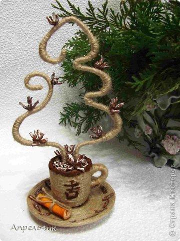 Мне очень понравились чашечки ароматного кофе marina.pr https://stranamasterov.ru/node/489035?c=favorite с ароматным дымком-елочками. В преддверии Нового года не устояла, повторила.  фото 2