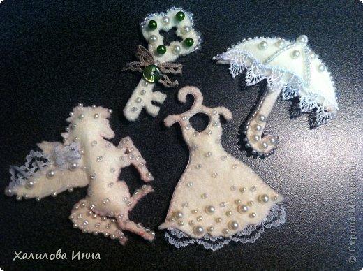 Мастер-класс Новый год Шитьё Игрушки ювелирной работы или елка мечты Бусинки Кружево Фетр фото 19