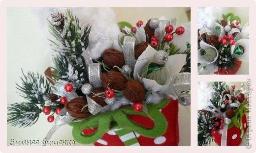 Бонсай топиарий Поделка изделие Свит-дизайн Новый год Рождество Моделирование конструирование Елочки венок новогодние композиции из конфет Бумага гофрированная фото 12