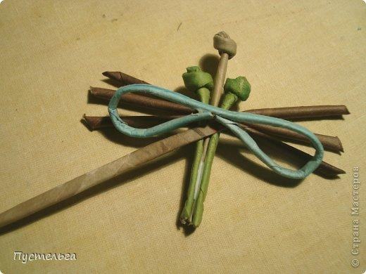 Поделка изделие Плетение Муха Бумага газетная Трубочки бумажные фото 6