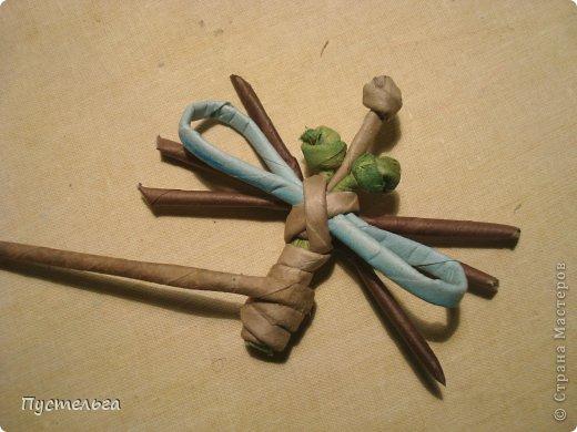 Поделка изделие Плетение Муха Бумага газетная Трубочки бумажные фото 7