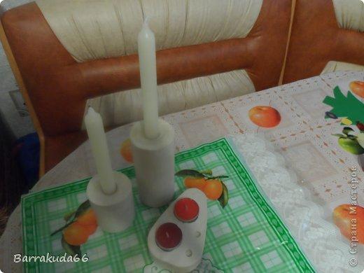 """Предлагаю Вам сегодня смастерить подсвечники из гипса для длинных свечей и свечей-таблеток. На авторство техники не претендую, (я вообще люблю изобретать """"велосипеды"""") но считаю своим изобретением =) фото 10"""