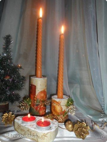 """Предлагаю Вам сегодня смастерить подсвечники из гипса для длинных свечей и свечей-таблеток. На авторство техники не претендую, (я вообще люблю изобретать """"велосипеды"""") но считаю своим изобретением =) фото 15"""