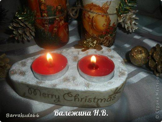 """Предлагаю Вам сегодня смастерить подсвечники из гипса для длинных свечей и свечей-таблеток. На авторство техники не претендую, (я вообще люблю изобретать """"велосипеды"""") но считаю своим изобретением =) фото 13"""