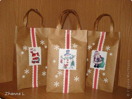 Как украсить подарочные пакеты своими руками