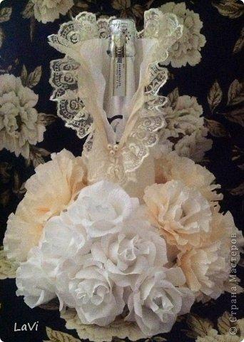Свит-дизайн 8 марта Свадьба Бумагопластика Бутылочка на праздник Бумага гофрированная фото 7