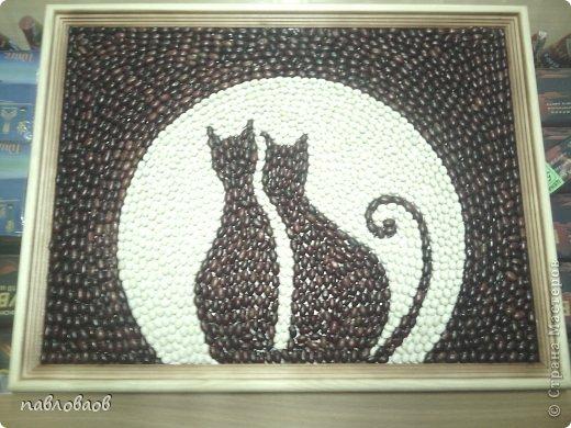Поделка кошки из семечек
