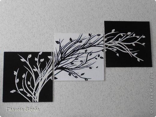 Вышивка триптих монохром схемы